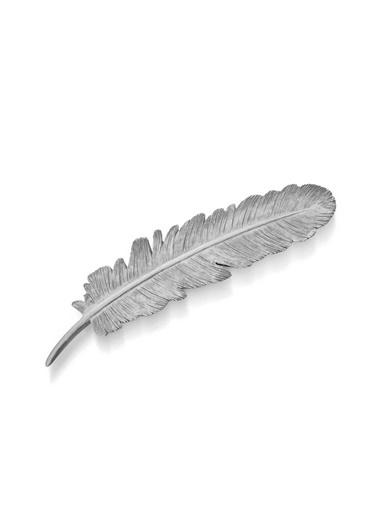 The Mia Dekor  Kuş Tüyü Gümüş - 22 Cm Gümüş